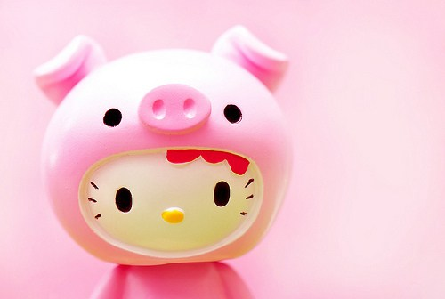 Gambar Hello Kitty Kepala Babi