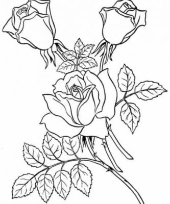 Gambar Sketsa Bunga Cantik
