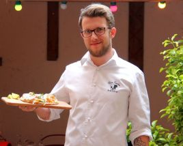 benjamin nieto, chez lucien bistrotier, lyon 4, croix rousse, food and you, sharing cuisine, blog lyon, tuto, recette heathy, tarte fine, saumon, chèvre frais