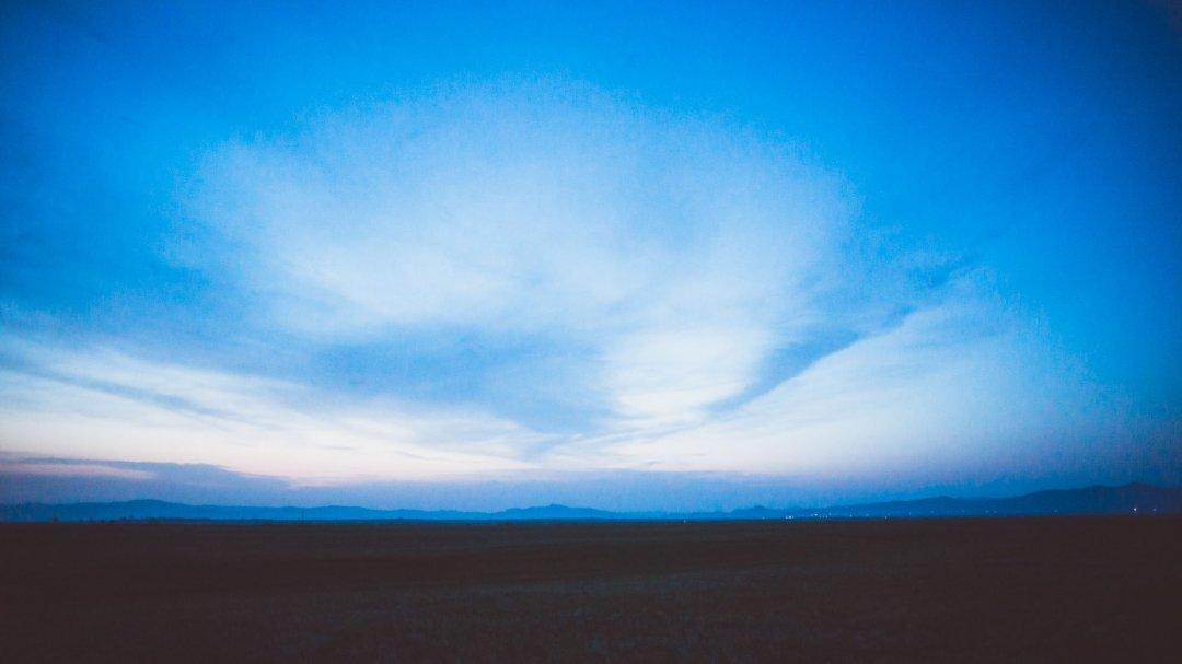 Blue hour on the plains near Sukbaatar, Mongolia