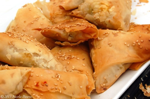 sharingourfoodadventures.com Spinach & Feta Filo Parcels from Salts of Leeds