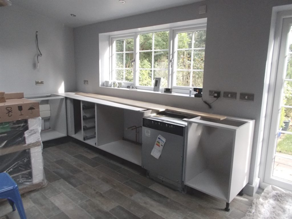 My Dream Kitchen. Start of the fitted kitchen.
