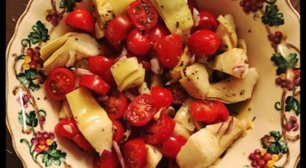 artichoke hearts and tomato salad