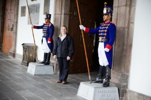 Shari at President's Residence, Quito, Ecuador