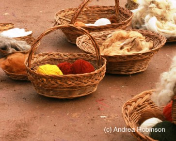 Peru - Basket of Wool - Andrea Robinson