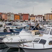 Boats in the harbour, Rovinj, Croatia