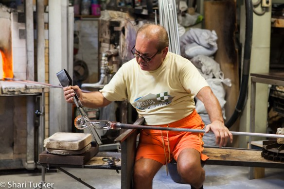 Mariano, Glass blowing artist, Murano, Italy