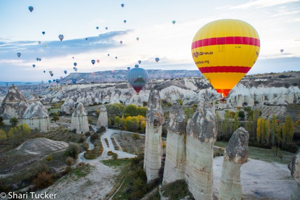 Hot air Ballooning over Love Valley in Cappadocia