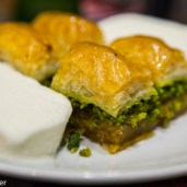 Turkish Food - Baklava and Ice cream
