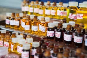 Scented oils at a market in Bangkok