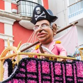Pink pirate float