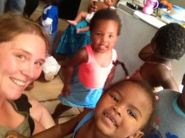 Visiting a day care in Imazamo Yethu, Cape Town