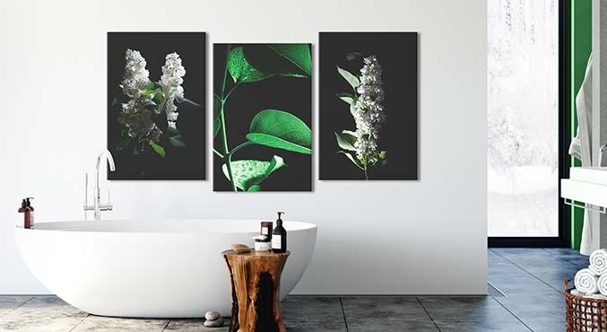 Decorations Pour La Salle De Bain Deco Murale Moderne Bimago
