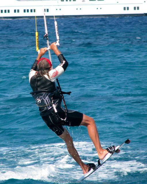 Uwe jumping.