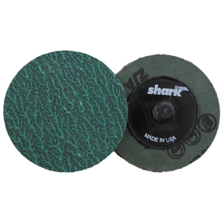 Mini Grinding Discs with Twist-to-Lock Backing – Green Zirconia 2″ 80 Grit. 25 pack.