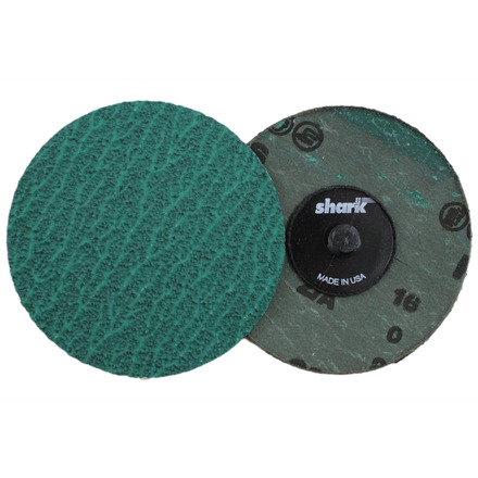 Mini Grinding Discs with Twist-to-Lock Backing – Green Zirconia 3″ 50 Grit. 25 pack.
