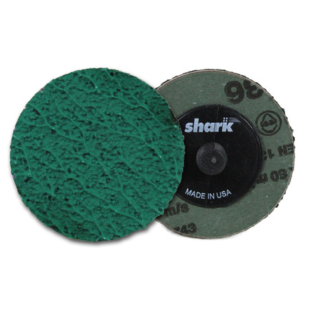 Mini Grinding Discs with Twist-to-Lock Backing – Green Zirconia 2″ 36 Grit. 25 pack.