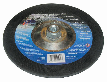 Depressed Center Type 27 Silicon Carbide Grinding Wheels – Hubless. 4.5″ x 1/4″ x 7/8″ – A24R Grit. 5 pack.