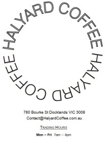 Halyard Coffee, Docklands