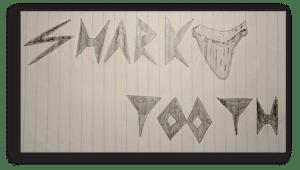Original Shark Tooth Logo Sketch