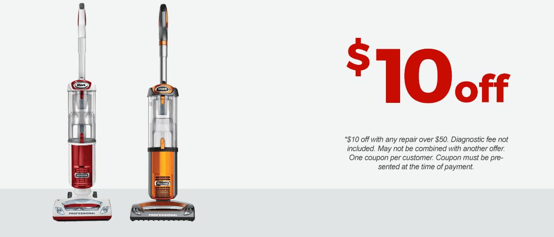 $10 Off Shark Vacuum Repair