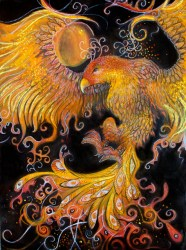 Phoenix - mixed media *FINAL* (edited for clarity, contrast and colour balance)