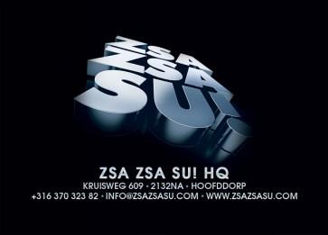 Zsa Zsa Su! Thank you card back