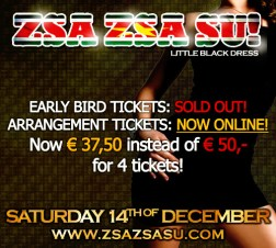 Zsa Zsa Su! Little Black Dress Tickets announcement