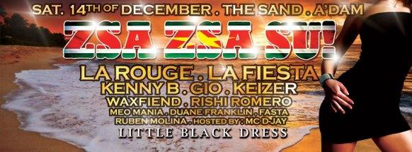 Zsa Zsa Su! Little Black Dress flyer webbaner