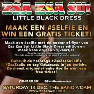 Zsa Zsa Su! Little Black Dress Gratis Ticket