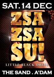 Zsa Zsa Su! Little Black Dress Poster