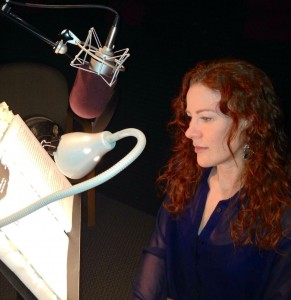 Katharine McEwan recording A MAD, WICKED FOLLY for Listening Library
