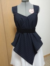 Front view: With a black crochet belt