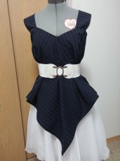 Front View: With a white elastic belt