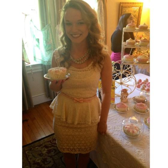 Rachael with cupcake