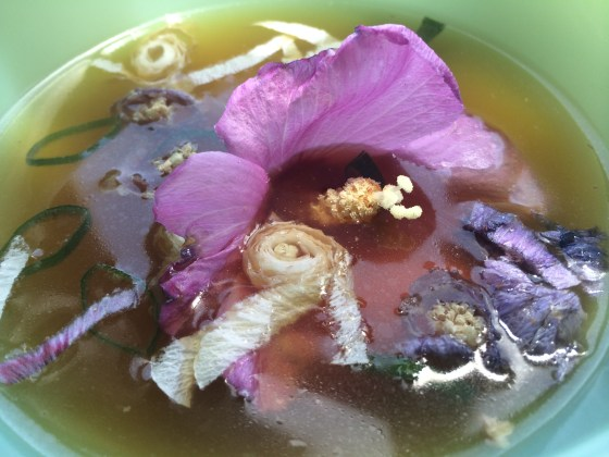 Bone Broth with Rose of Sharon added to broth. Rose of Sharon also is a thickener