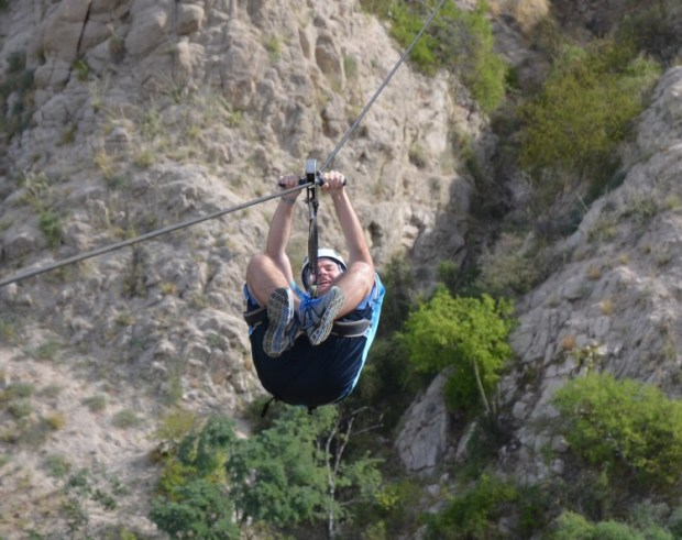 My oldest zipping along - having a good time