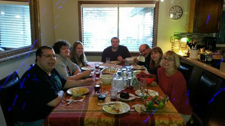 Our cozy gathering on Thanksgiving Day