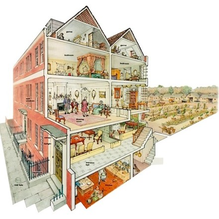 1750 London townhouse