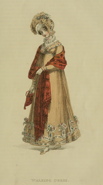 1818 Ackermann's fashion plate 17 - Walking Dress