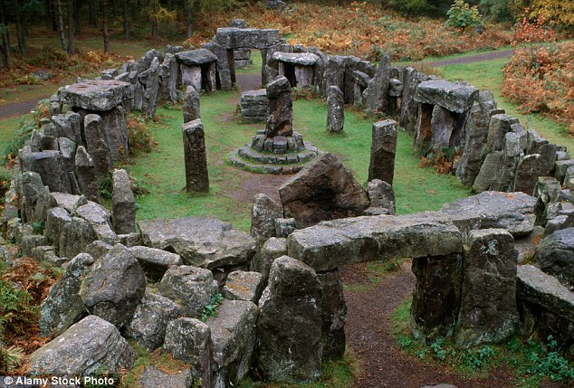 Druid's Temple at Swinton Park in Yorkshire, 1800