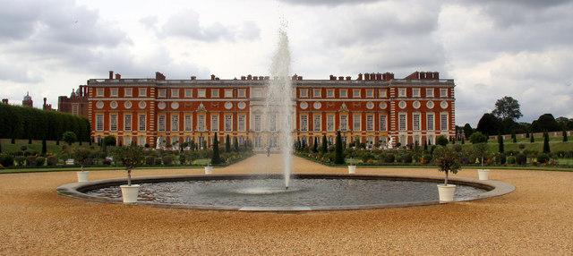 Fountain at Hampton Court in Surrey