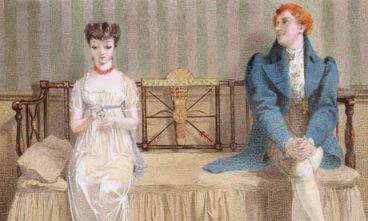 Courting, 1868, by Adelaide Claxton