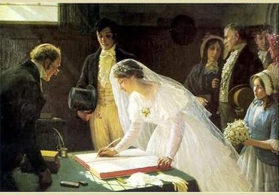 Edmund-Blair-Leighton-Signing-The-Register-