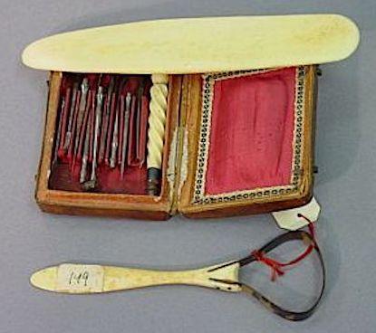 French ivory dental set