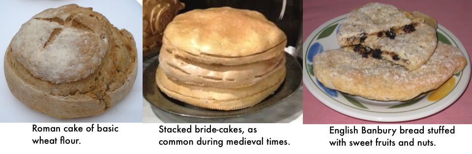 bridal cake trio