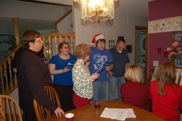 Christmas Eve caroling