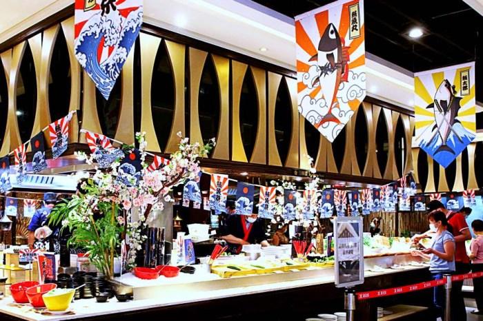 潮港城太陽百匯 台中吃到飽餐廳 潮港城國際美食館就在台中魚市場