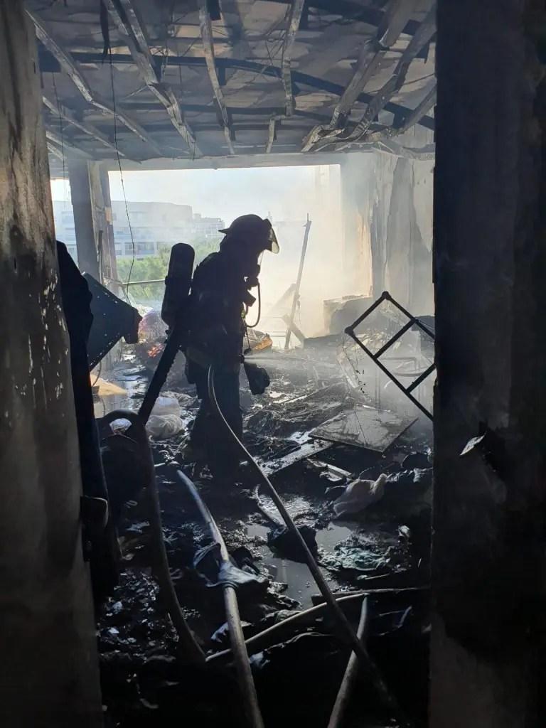 שריפה בדירת מגורים בהרצליה 08.01.2021