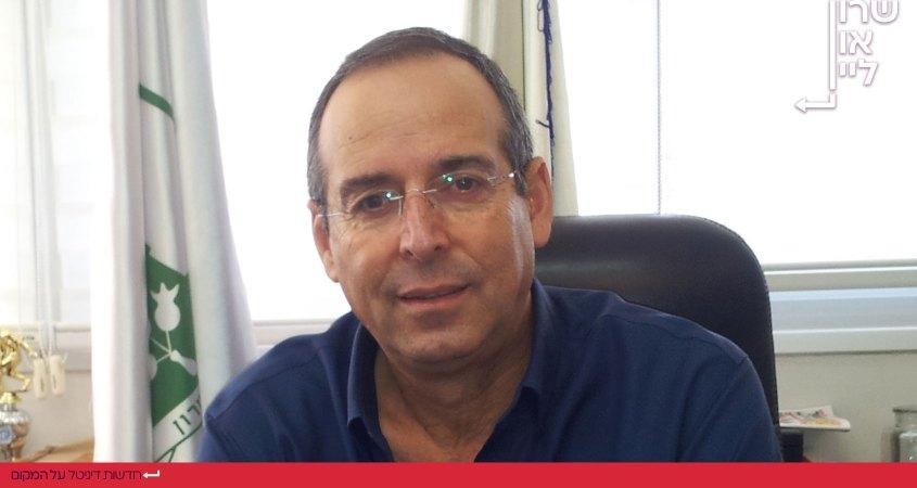 יצחק איציק רוכברגר בעת היותו ראש עיריית רמת השרון